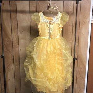 Disney Princess Belle dress and crown